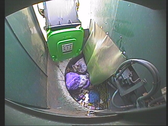 Drivers monitor the contents of GO bins as they are emptied and inspect bins with a history of contamination before collection.